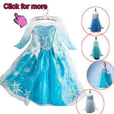 <b>New</b> Arrival Dresses Girls <b>Princess Anna Elsa</b> Cosplay Costume ...