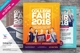 college fair flyer templates flyer templates on creative market