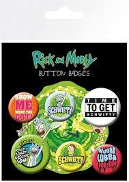 Купить набор значков «<b>Набор значков Rick</b> and Morty (Quotes ...