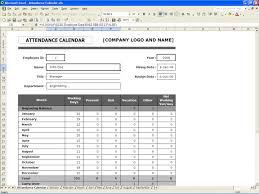 attendance calendar excel templates attendance calendar