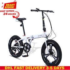 <b>DHL Fast Delivery Folding</b> Bicycle Mountain Bike 20-inch 18 16-inch ...