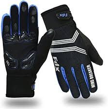 FDX <b>Cycling Gloves Windproof</b> Gel Padded Touchscreen ...