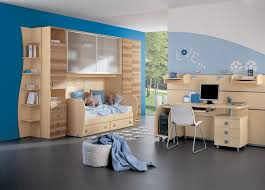 pleasant design ideas for boys room modern blue kids bedroom with light wooden bed and storage blue themed boy kids bedroom contemporary children