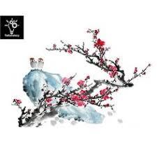 Plum Blossom Curve <b>Postcard</b> | Zazzle.com | misc. | Flower tattoos ...
