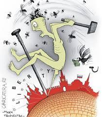 Плакат «<b>Мухи творчества</b>», Олег Жорник. Карикатуры, комиксы ...
