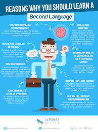 essay about learning a second language  essay why you should learn a second language infographic e learning