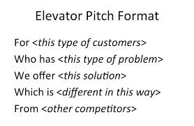 nurturing ideas elevator pitch format by mukund mohan