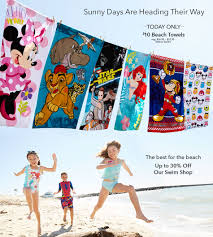 disney store official site for disney merchandise sunny days are heading their way today only 10 beach towels reg