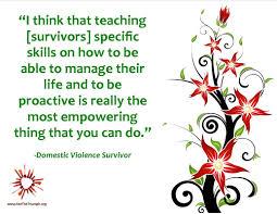 teaching survivors specific skills see the triumph teaching survivors specific skills