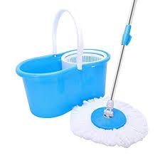T-REASURE 360°Spin Mop Bucket Set, Adjustable ... - Amazon.com