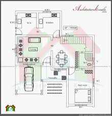THREE BEDROOM TWO STOREY HOUSE PLAN   ARCHITECTURE KERALAGROUND FLOOR PLAN