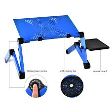 Aluminum Alloy Laptop <b>Table</b> Adjustable <b>Portable</b> Folding Computer ...