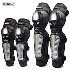 WOSAWE <b>4Pcs</b>/<b>Set Elbow</b> & <b>Knee Pads</b> Stainless Steel Motorcycle ...