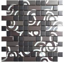 brick style kitchen wall tiles grey metal