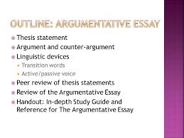 thesis statement argument vs counterargument linguistic devices  thesis statement  argument and counterargument  linguistic devices  transition words 