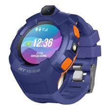 Детские <b>умные часы Jet Kid</b> Gear голубой+ оранжевый — купить ...