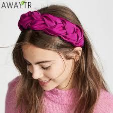 <b>Fashion Style</b> Hairband Knot Turban Solid Elastic Hair Head Hoop ...