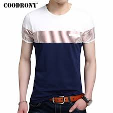 <b>COODRONY Cotton T Shirt</b> Men Summer Brand Clothing Short ...