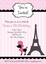 pink poodle in paris birthday invitations digital file diy pink poodle in paris birthday invitations digital file diy printable kids party invites