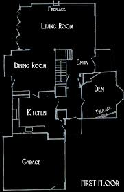 The Facade Floor Plans   Bewitched   Harpies BizarreThe floor plans for the Bewitched house are designed to show how the floor plans would look if there really was an Morning Glory Circle house