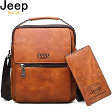 <b>JEEP BULUO Brand Men</b> Shoulder Bags 2pce set Crossbody ...