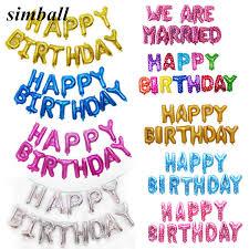 <b>13Pcs</b>/<b>set</b> Foil Letter Balloons Happy Birthday Party Decoration Kids ...