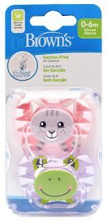 dr browns пустышка для сна prevent от 0 до 6 месяцев цвет розовый красный 2 шт