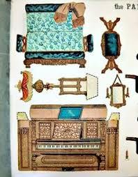 paper model cut out paper parlor 1892 furniture victorian dollhouse furniture die via etsy vintage modern dollhouse furniture 1200 etsy