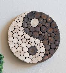 <b>Yin Yang</b> Wooden Zen <b>Wall</b> Art | VivaTerra