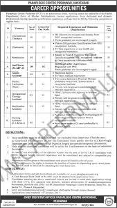 new jobs announced by paraplegic center peshawar jobs kpk new jobs announced by paraplegic center peshawar jobs 2017 kpk medical jobs 2017