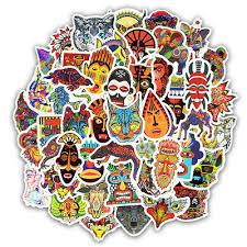 <b>50 PCS Totem</b> Sticker <b>Animal</b> Graffiti Stickers to DIY Laptop ...