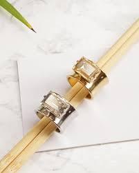 Smaragd geschnitten Ring, <b>Swarovski</b> Ring für Frauen, breite Gold ...