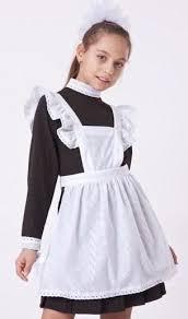 Школьное платье с фартуком для <b>девочки</b> напрокат | Школьная ...
