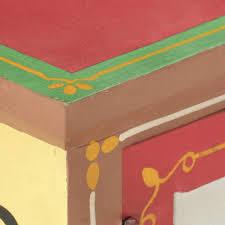 vidaXL <b>TV Cabinet 130x30x36</b> cm Hand Painted Solid Mango Wood ...