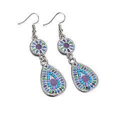 Scrox 1Pair <b>Fashion Earrings</b> Shiny Exquisite Bohemia <b>Ethnic Style</b> ...