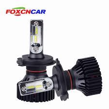 FOXCNCAR 1pcs H7 H4 LED H4 H7 6500K Car headlight bulb ...
