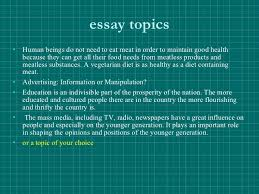 Essay topics vegetarianism   drugerreport    web fc  com Pataphysical essays on success gessayova skolas essay for pollution in english  essay writing on world peace australian history vce essays on success