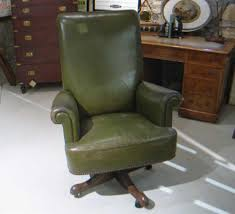 leather desk chair with swivel action for sale antique leather swivel desk chair