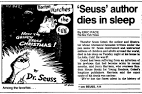 Dr. Seuss, (as quoted in his obit in Time)