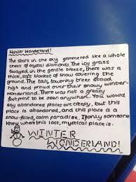 a winter wonderland descriptive writing mr lowe s class blog image