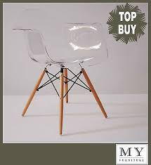 daw eames style eiffel dining office chair transparent wooden leg single bedroomdivine buy eames style office chairs