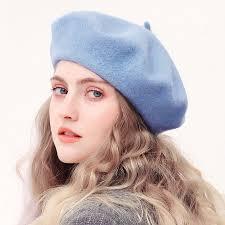 <b>Wool</b> Beret Hats Women <b>Winter</b> French Hat Girls Solid <b>Color</b> ...