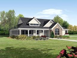 House Plan at FamilyHomePlans comBungalow Cabin Cottage Country Ranch Traditional House Plan Elevation