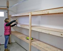 ana white easy and fast diy garage or basement shelving for tote storage diy projects ana white build office