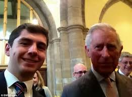 Cheeky Joseph Wilson, left, persuaded Prince Charles to appear in his selfie ... - article-2584481-1C6AD88A00000578-652_634x468