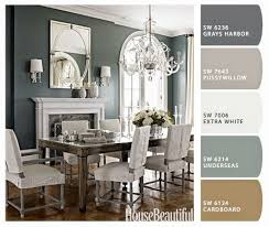 neutral dining room kitchen