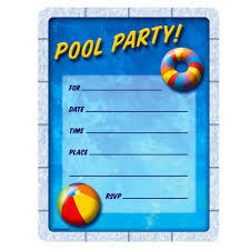 pool party invitation ideas pool party invitation templates