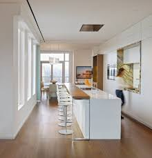 Kitchen Breakfast Bar White Kitchen Breakfast Bar Yorkville Penthouse Ii In Toronto