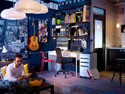 navy living room ideas flair blue home office dark wood