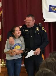 stillwater th graders l e a d by example sparta nj local news emily popek and the program s facilitator officer lew labarr as labarr announces popek as one of the essay winners